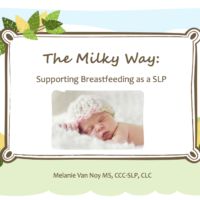 The Milky Way: Supporting Babies at the Breast as a SLP